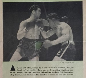 Joe Louis beating Max Schmeling